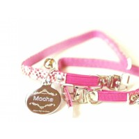 Smart Metal Engraved Pet Tag with Collar